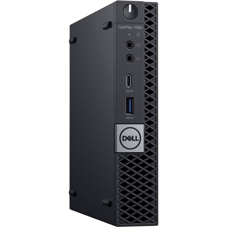 Dell OptiPlex 7000 7060 Desktop Computer - Intel Core i5 (8th Gen) i5-8500T - 8 GB DDR4 SDRAM - 256 GB SSD - Windows 10 Pro 64-bit (English) - Micro PC