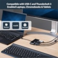 StarTech.com USB Type C Docking Station for Notebook/Tablet/Smartphone/Projector/Monitor - 60 W - Black