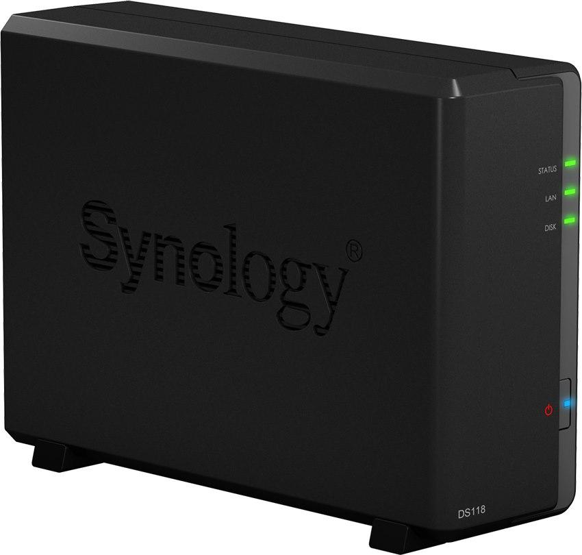 Synology DiskStation DS118 1 x Total Bays SAN/NAS Storage System - Realtek Quad-core (4 Core) 1.40 GHz - 1 GB RAM - DDR4 SDRAM Compact