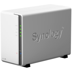 Synology DiskStation DS218J 2 x Total Bays SAN/NAS Storage System - Marvell Armada 385 Dual-core (2 Core) 1.30 GHz - 512 MB RAM - DDR3 SDRAM Desktop