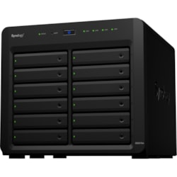 Synology DiskStation DS3615xs 12 x Total Bays NAS Storage System - Intel Core i3 Dual-core (2 Core) 3.40 GHz - 4 GB RAM - DDR3 SDRAM External
