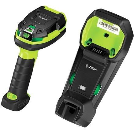 Zebra DS3678-ER Handheld Barcode Scanner - Wireless Connectivity -  Industrial Green, Black