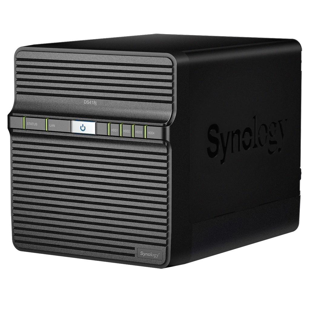 Synology DiskStation DS418J 4 x Total Bays SAN/NAS Storage System - Desktop
