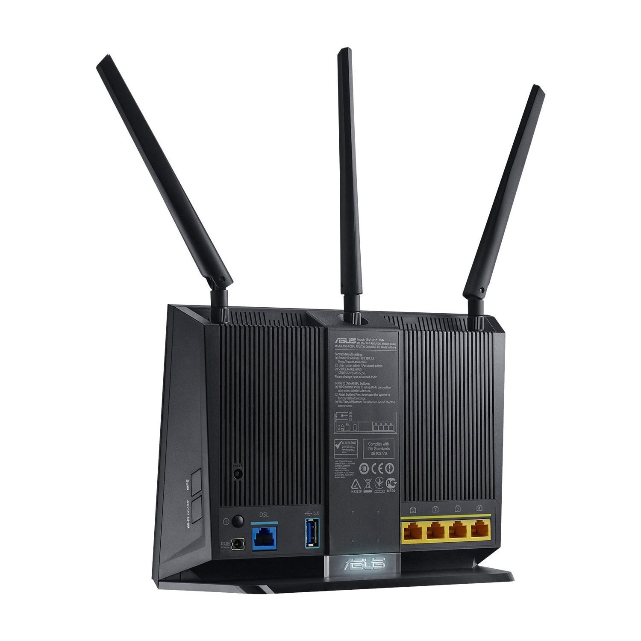 Buy Asus DSL-AC68U IEEE 802.11ac Ethernet, ADSL2+, VDSL2 Modem ...