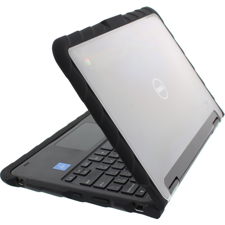 Gumdrop Drop Tech Case for Chromebook, Notebook - Transparent, Black