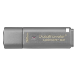 Kingston DataTraveler Locker+ G3 32 GB USB 3.0 Flash Drive - Silver