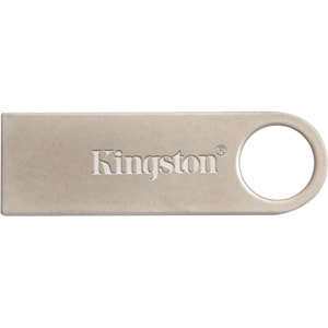 Kingston DataTraveler SE9 16 GB USB 2.0 Flash Drive - Silver - 1 Pack