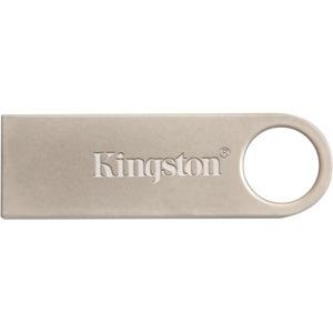 Kingston DataTraveler SE9 16 GB USB 2.0 Flash Drive - Silver - 1 Pack