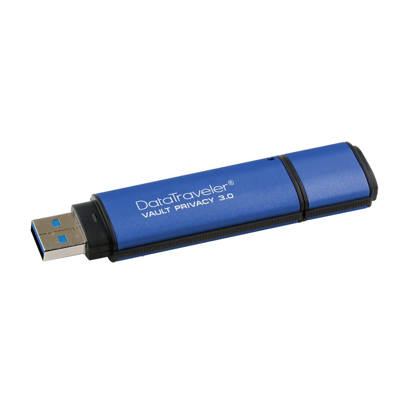 Kingston DataTraveler Vault Privacy 3.0 64 GB USB 3.0 Flash Drive - 256-bit AES