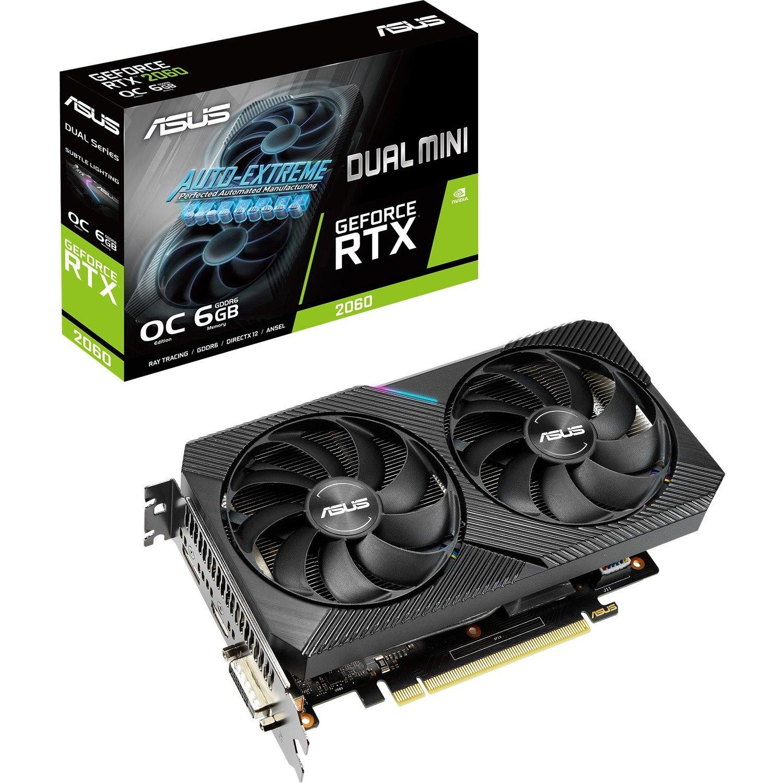 Asus Dual DUAL-RTX2060-O6G-MINI GeForce RTX 2060 Graphic Card - 6 GB GDDR6