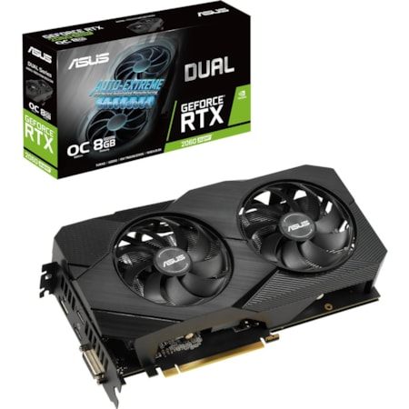 Asus Dual DUAL-RTX2060S-O8G-EVO-V2 GeForce RTX 2060 SUPER Graphic Card - 8 GB GDDR6