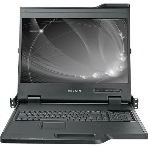 """Belkin 19"""" Widescreen Lcd Rack Console W/16 Port Kvm"""
