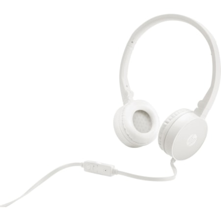 HP H2800 Wired Stereo Headset - Over-the-head - Supra-aural - White