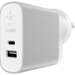 Belkin AC Adapter for Smartphone, Tablet PC, iPad, iPhone, Wireless Pen, Phablet, e-book Reader, USB Device