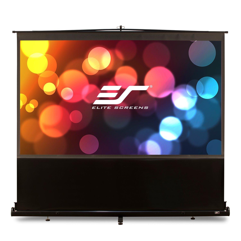 """Elite Screens ezCinema F84NWH Projection Screen - 213.4 cm (84"""") - 16:9 - Floor Mount"""