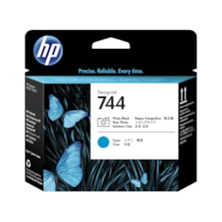 HP 744 Printhead - Photo Black, Cyan