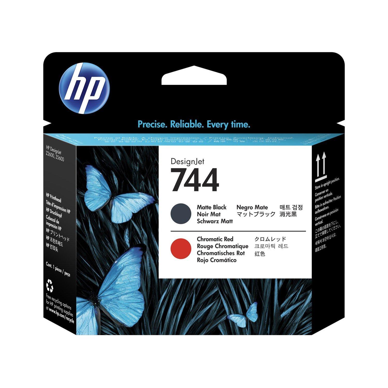 HP 744 Printhead - Matte Black, Chromatic Red