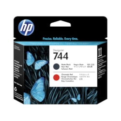 HP 744 Printhead - Matte Black, Chromatic Red