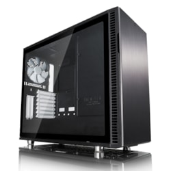 Fractal Design Define R6 Computer Case - EATX, ATX, Micro ATX, ITX Motherboard Supported - Tower - Steel, Tempered Glass - Black - 12.40 kg
