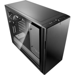 Fractal Design Define R6 Computer Case - EATX, ATX, Micro ATX, ITX Motherboard Supported - Tower - Steel, Tempered Glass - Blackout - 12.40 kg