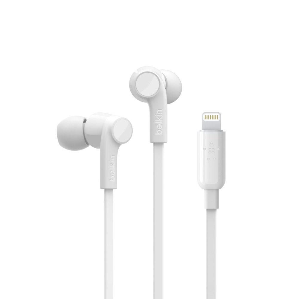 Belkin ROCKSTAR Wired Earbud Stereo Earset - White