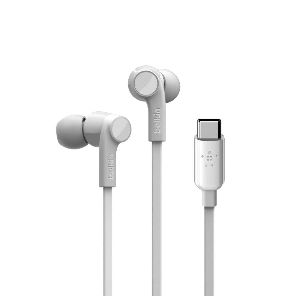 Belkin ROCKSTAR G3H0002BTWHT Wired Earbud Stereo Earset - White