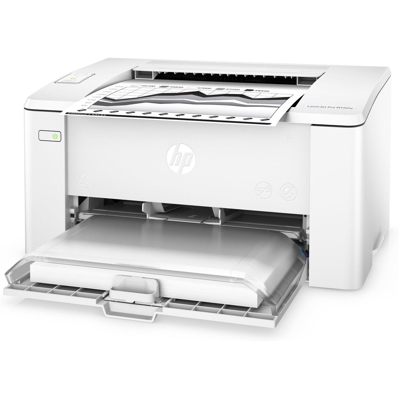 HP LaserJet Pro M102w Laser Printer - Monochrome
