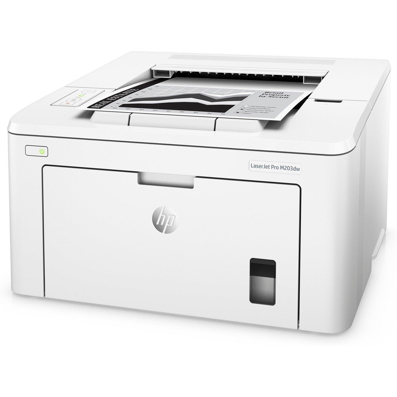 HP LaserJet Pro M203dw Laser Printer - Monochrome - 1200 x 1200 dpi Print - Plain Paper Print - Desktop