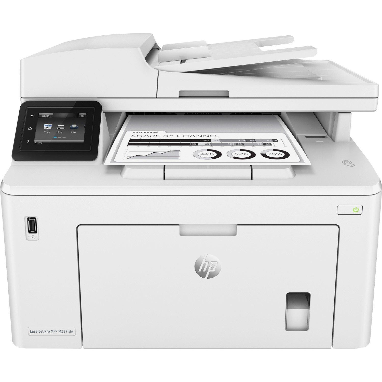 HP LaserJet Pro M227fdw Laser Multifunction Printer - Monochrome - Plain Paper Print - Desktop