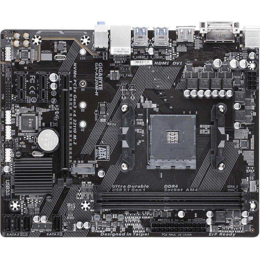 Gigabyte Ultra Durable GA-A320M-H Desktop Motherboard - AMD Chipset - Socket AM4