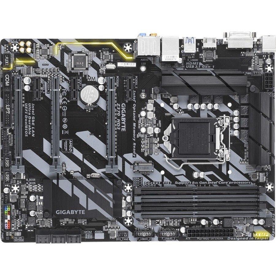 Gigabyte Ultra Durable Z370 HD3 Desktop Motherboard - Intel Chipset - Socket H4 LGA-1151
