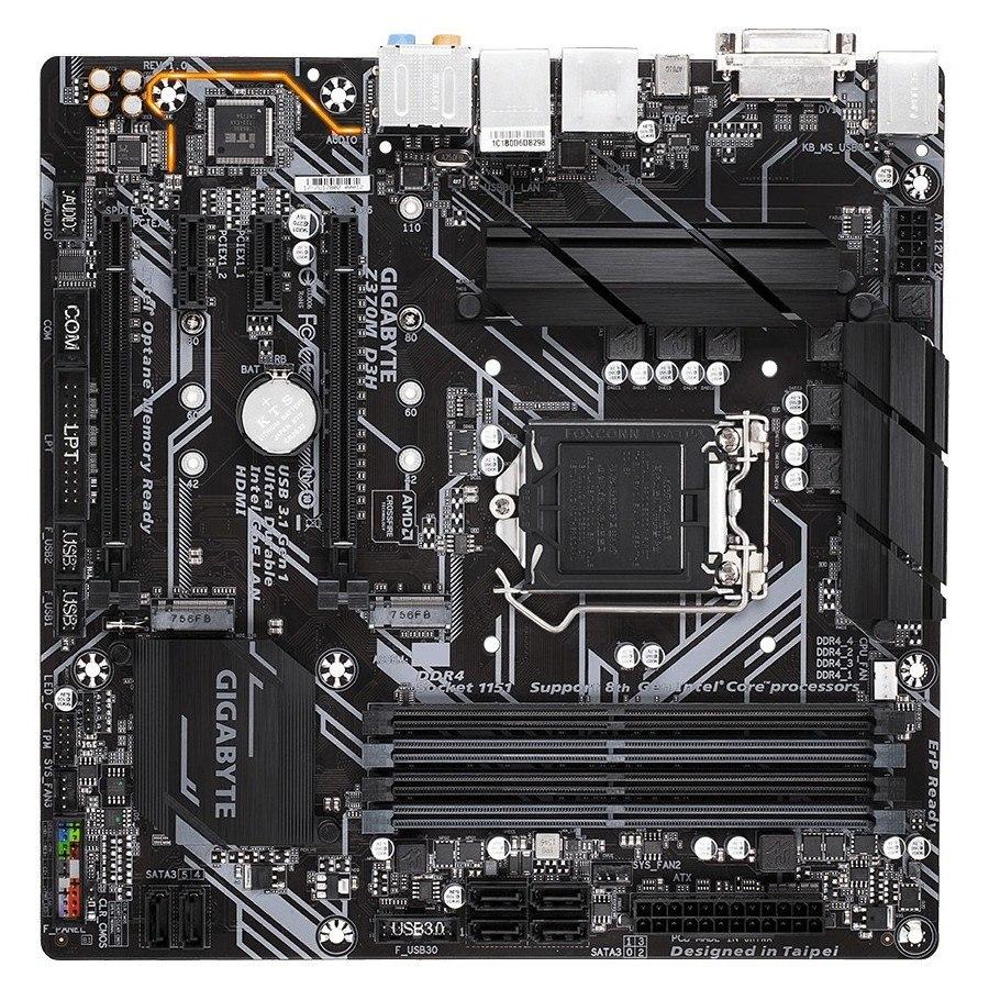 Gigabyte Ultra Durable Z370M D3H Desktop Motherboard - Intel Chipset - Socket H4 LGA-1151