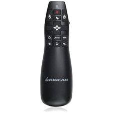 IOGEAR GME430R Presentation Pointer - Laser - Wireless - Black