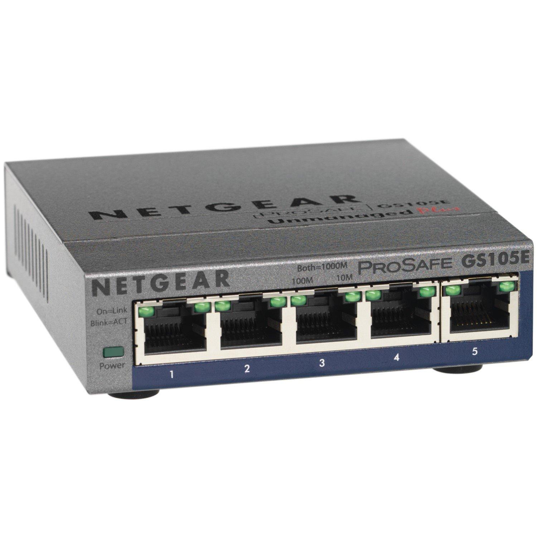 Netgear ProSafe Plus GS105Ev2 5 Ports Manageable Ethernet Switch