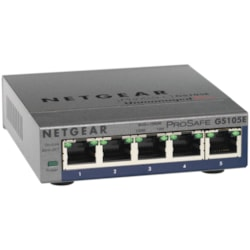 Netgear ProSafe Plus GS105Ev2 5 Ports Manageable Ethernet Switch