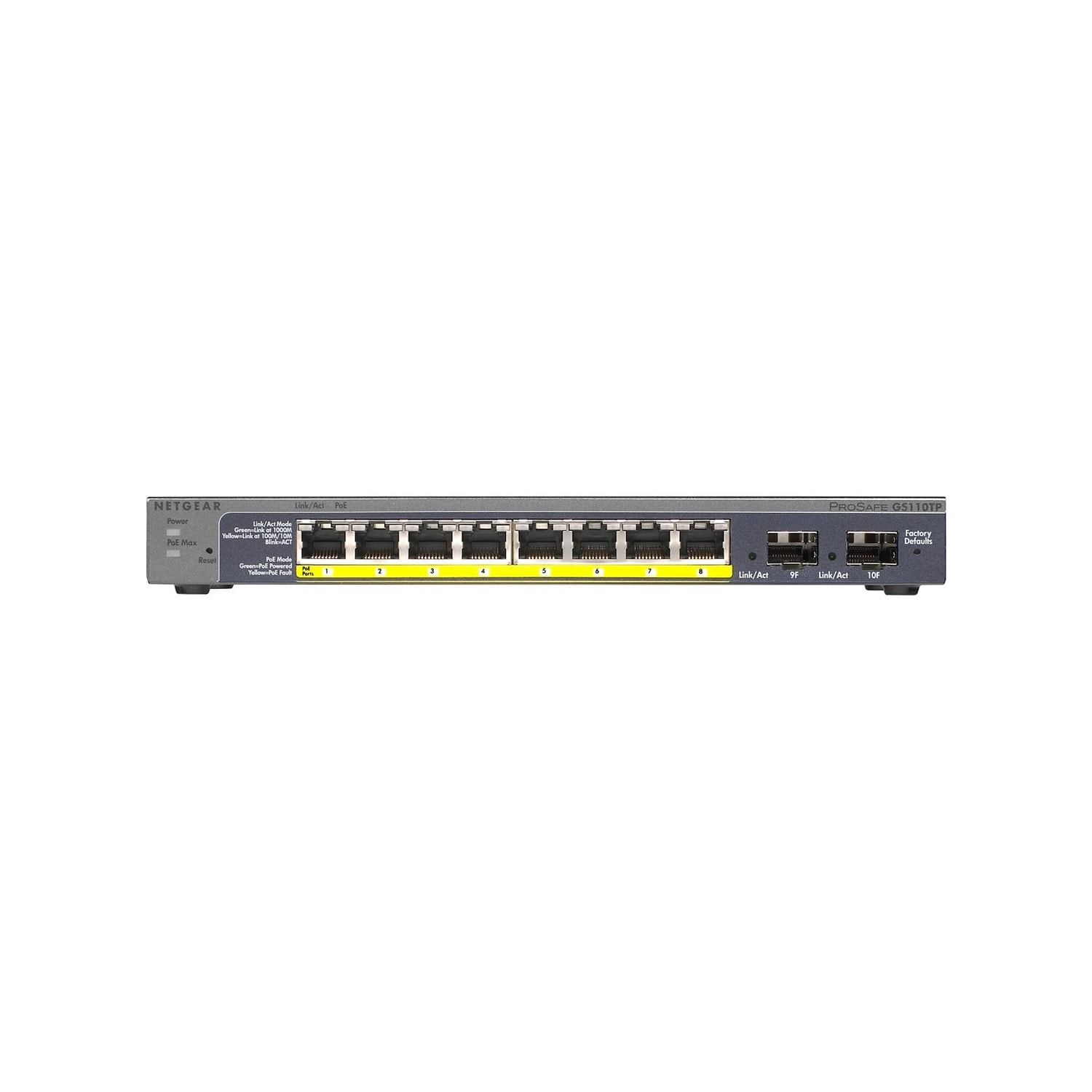 Netgear Gs110tp Prosafe 8port Gigabit Switch Netgeargs110tp100nas
