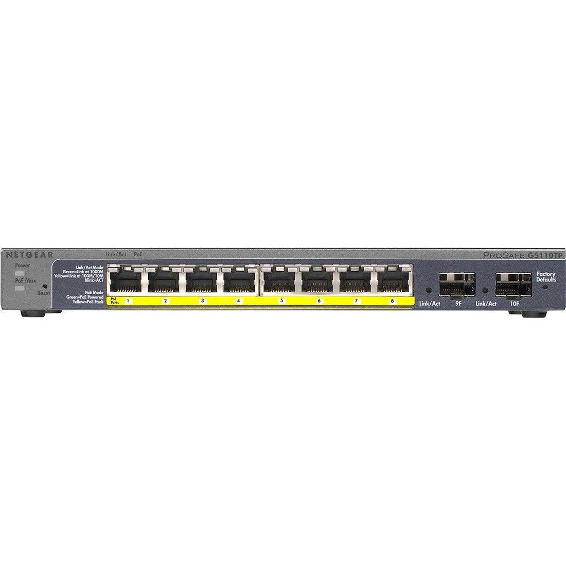 Netgear ProSafe GS110TP 8 Ports Manageable Ethernet Switch