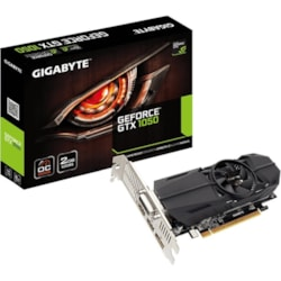 Gigabyte Ultra Durable 2 GV-N1050OC-2GL GeForce GTX 1050 Graphic Card - 1.39 GHz Core - 1.51 GHz Boost Clock - 2 GB GDDR5 - Low-profile