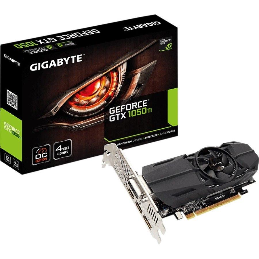 Gigabyte Ultra Durable 2 GV-N105TOC-4GL GeForce GTX 1050 Ti Graphic Card - 4 GB GDDR5 - Low-profile
