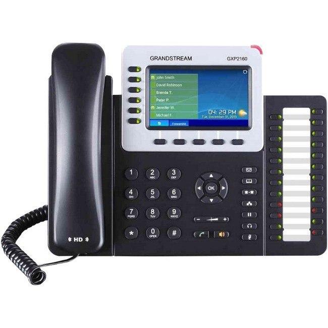 Grandstream GXP2160 IP Phone - Bluetooth - Desktop, Wall Mountable