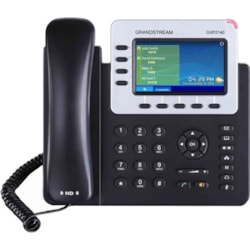 Grandstream GXP2140 IP Phone - Corded/Cordless - Corded - Bluetooth - Wall Mountable - Black