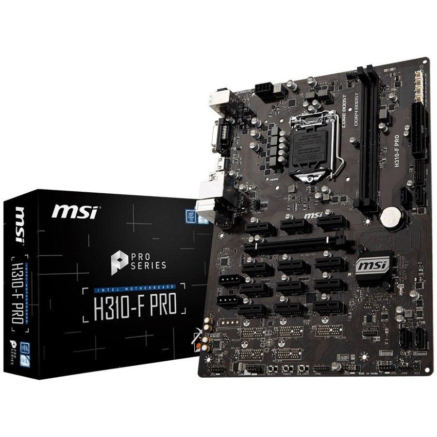 MSI H310-F PRO Desktop Motherboard - Intel Chipset - Socket H4 LGA-1151