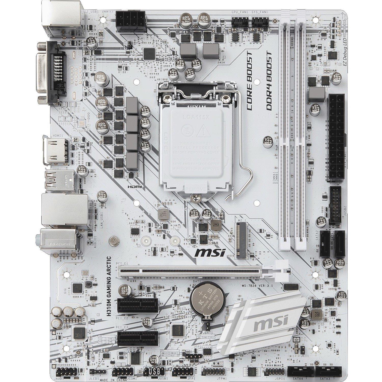 MSI H310M GAMING ARCTIC Desktop Motherboard - Intel Chipset - Socket H4 LGA-1151