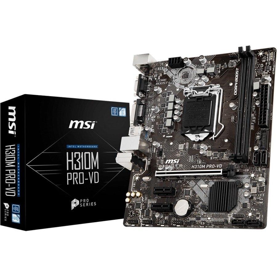 MSI H310M PRO-VD Desktop Motherboard - Intel Chipset - Socket H4 LGA-1151