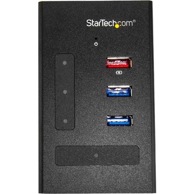 StarTech.com USB Hub - USB 3.0 - External - Black