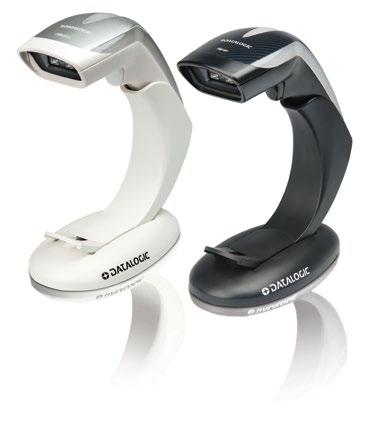 Datalogic Heron HD3430 Handheld Barcode Scanner Kit - Cable Connectivity - Black