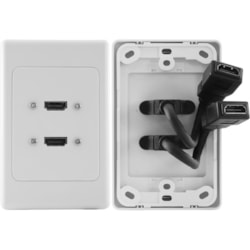 Pro2 HDMI2FLEX Faceplate - 2 x Total Number of Socket(s)