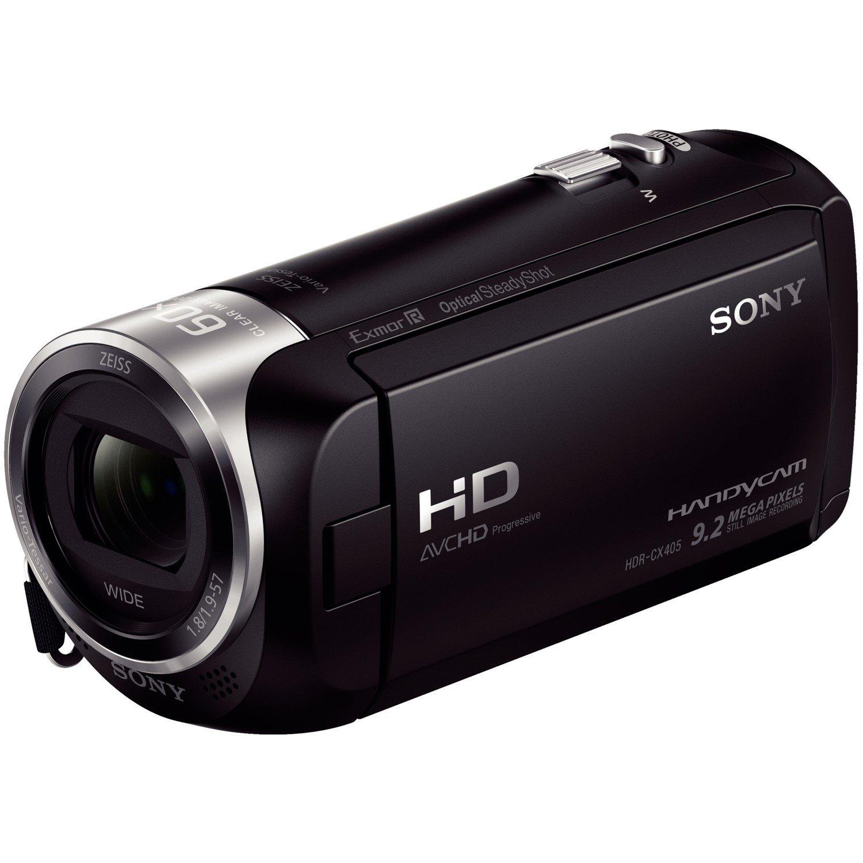 """Sony Handycam HDR-CX405 Digital Camcorder - 6.9 cm (2.7"""") LCD - Exmor R CMOS - Full HD - Black"""
