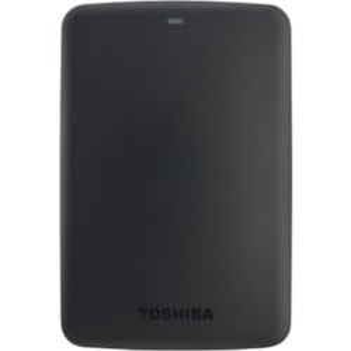 "Toshiba Canvio Basics 1 TB Hard Drive - 2.5"" Drive - External - Portable - Black"