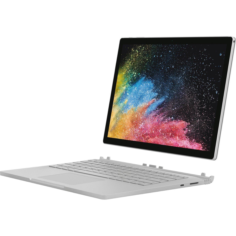 "Microsoft Surface Book 2 34.3 cm (13.5"") Touchscreen LCD 2 in 1 Notebook - Intel Core i7 (8th Gen) i7-8650U Quad-core (4 Core) 1.90 GHz - 8 GB LPDDR3 - 256 GB SSD - Windows 10 Pro Creators 64-bit - 3000 x 2000 - PixelSense - Hybrid - Silver"